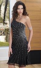 Scala 46973 Black/Silver Dress