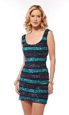 Scala 47134 Navy/Teal Dress