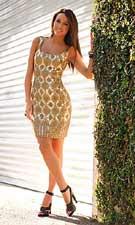 Scala 47150g Gold Dress