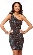 Scala 47152 Brown/Teal Dress