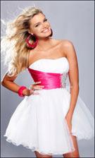 Sherri Hill 1002 Pink/White Dress