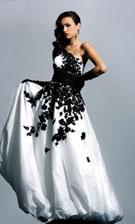 Sherri Hill 1007 Black/White Dress