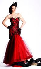 Sherri Hill 1119 Red/Black Dress