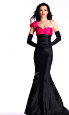 Sherri Hill 1123 Black/Fuchsia Dress