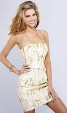 Sherri Hill 2103 Ivory/Gold Dress