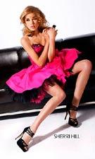 Sherri Hill 2331 Fuchsia/Black Dress