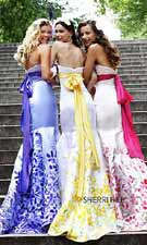 Sherri Hill 6007 Handpainted Pink/Lilac Dress