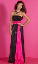 Studio 17 1291026 Black/Fuchsia Dress