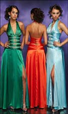 Studio 17 2758 Emerald/Orange/Aqua Dress