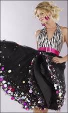 Terani 7495 Black Fuchsia Dress