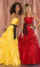 Tiffany 1691065 Yellow/Red Dress