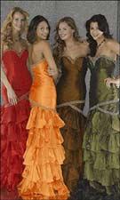 Tiffany 6679 Red/Orange/Coffee/Olive Dress