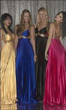Tiffany 6702 Yellow/Royal/Black/Fuchsia Dress