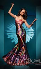 Tony Bowls 111719 Orange/Multi Dress