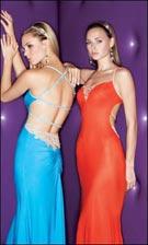 Xcite 3458 Turquoise or Raspberry Dress