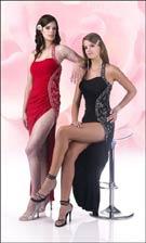 Xcite 3494 Claret/Black Dress
