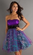 XO 2568TU11 Purple Dress